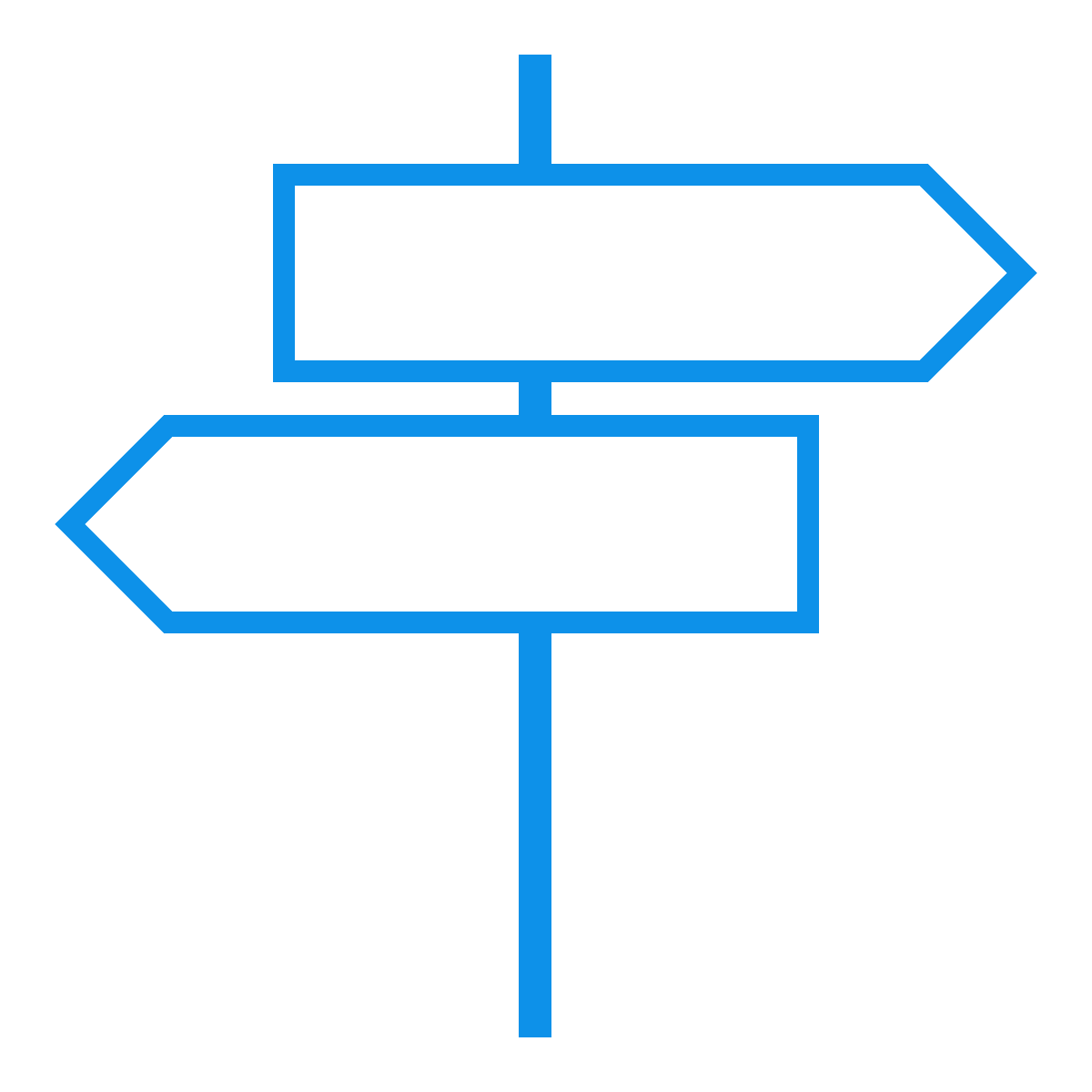 Sign Posts - Blue - v0